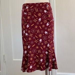Hot Topic Harry Potter Holiday retro midi skirt